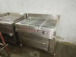 Commerical six burner cooking range with oven,fastfood, restaurant