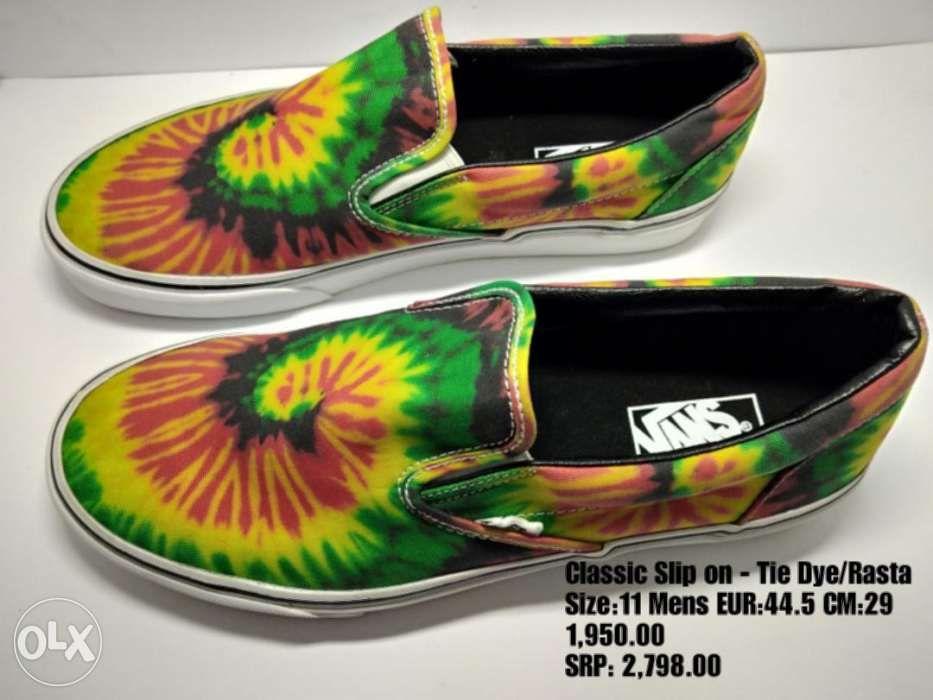 8dc59bd8567e Vans Slip on Tie Dye Rasta Shoes Mens in Makati