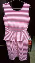 striped dress . not weared once . company - max