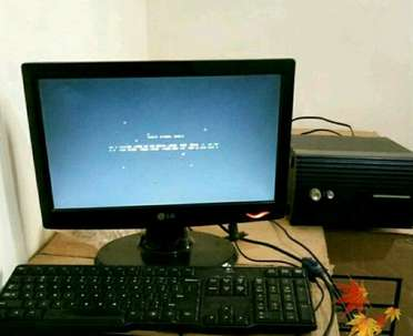 Monitor Lg 14 inch + Keyboard + Subwover