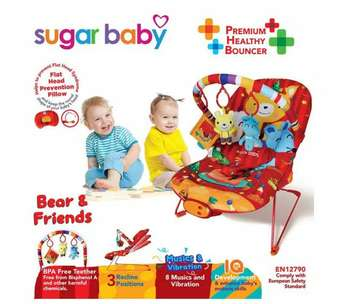 Sugar Baby 3 Recline Bear and Friends Baby Bouncer