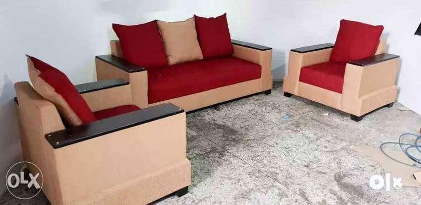 Brand New 3 1 1 Sofa Wooden Top On Handle Wd 5 Yrs Guarantee Sofa