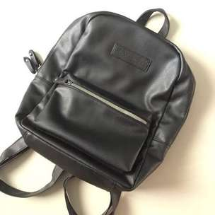 Tas Ransel American Eagle Hitam Leather