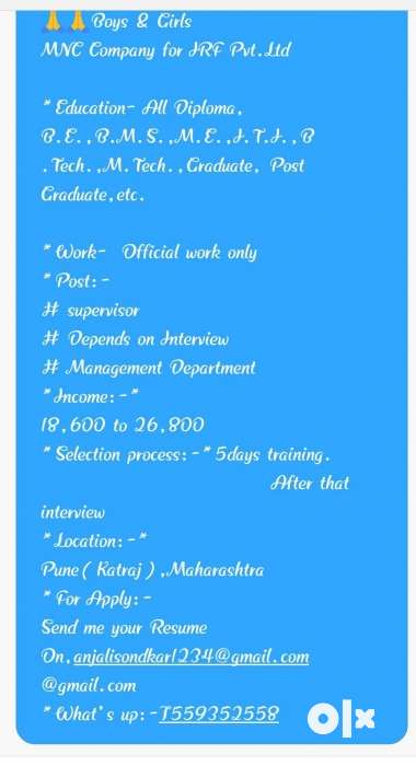 Only interested persons are send your resume - Pune - Jobs - Pisoli
