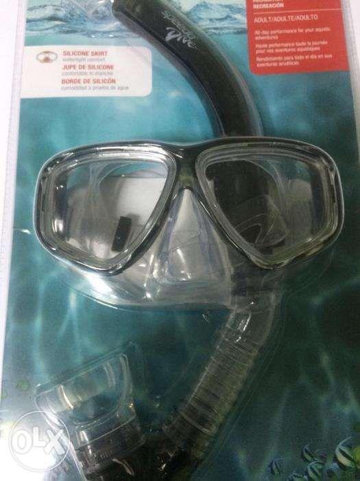 46cb2b6c82b0 Speedo Dive Adventure Recreation Adult Mask Snorkel Set Black in ...
