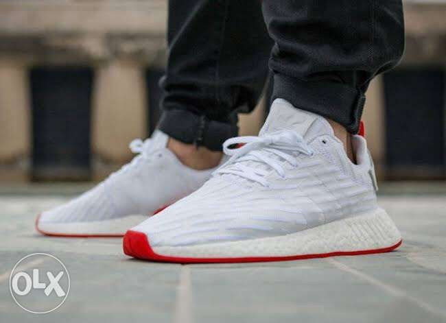 616e8a1ce Rare Adidas NMD R2 Primeknit White Red size mens 105 in Quezon City ...