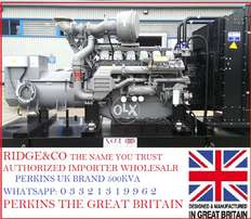 Perkins UK 500 KVA Soundproof diesel generator 2 year engine warranty.