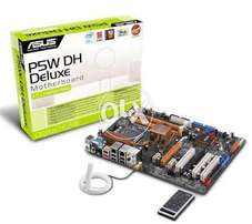 ASUS mobo P5DW DH for Core 2 quad Processors, with Sli &wifi crd