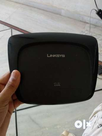 Black Cisco Linksys Wireless Router