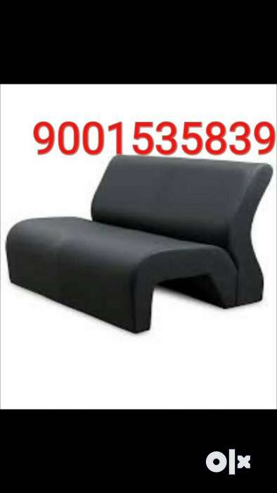 Beau New Branded Office Couch Black Leather /restaurant Couch