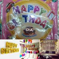 HAPPY BIRTHDAY foil balloon blow with air or helium make beautifulview