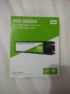 SSD nvme wd green 128 gb