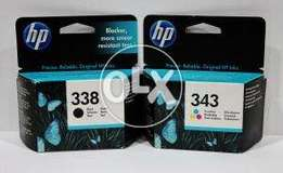 HP 338 Black/343 Tri-color 2-pack Original Ink Cartridges