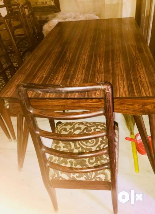 Rose Wood 8 Seaters Old Solid Dining Table Hyderabad Furniture
