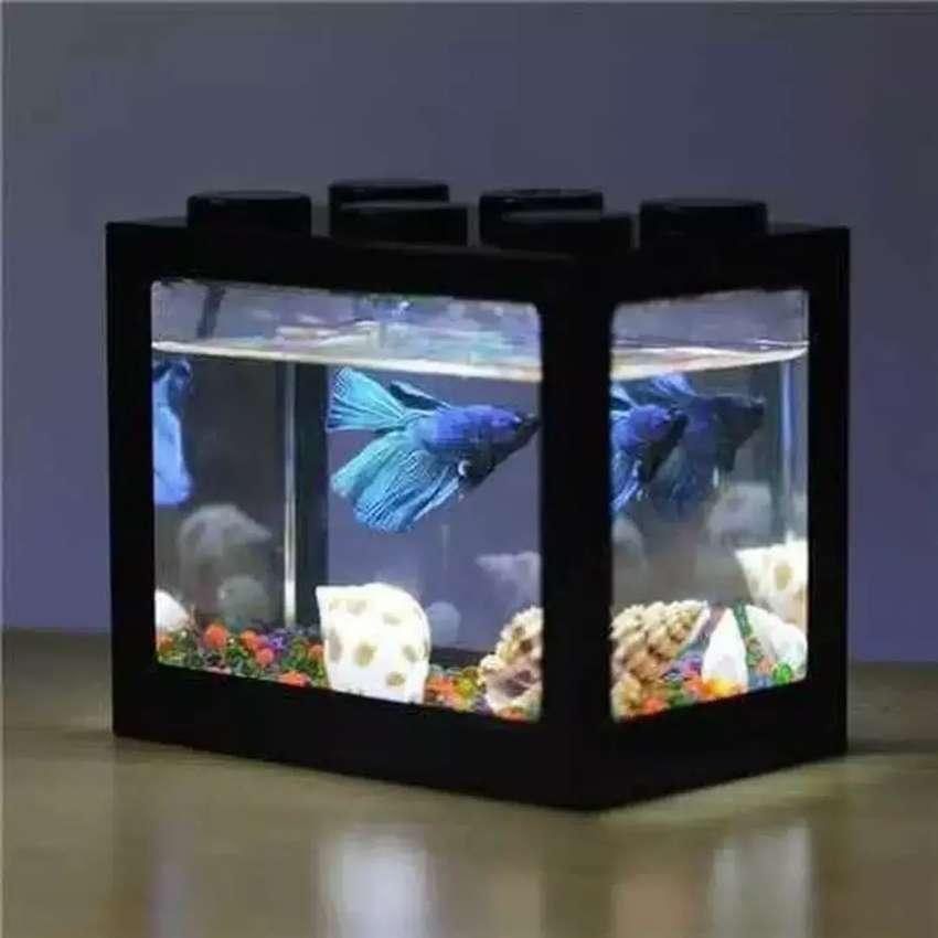 Aquarium Mini Ikan Hias Cupang Dengan Led Betta Fish Tank Lainnya 780622678