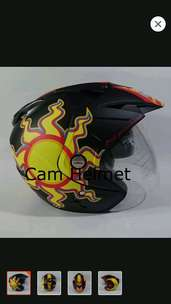 helm sun moon dobel visor