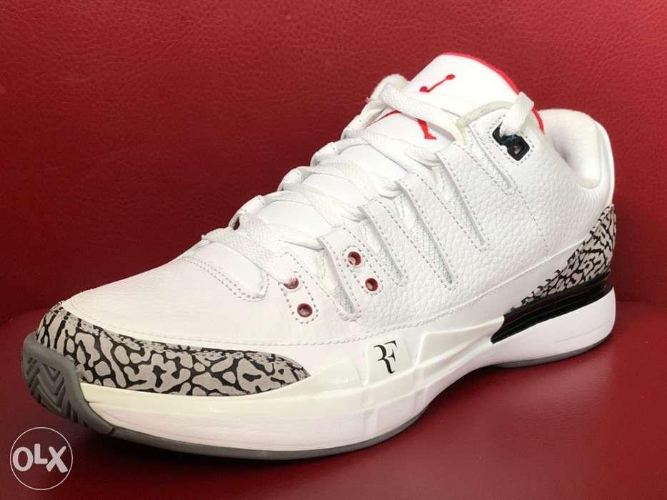 109bcc9a9873 Authentic Nike Vapor AJ3 Roger Federer X Air Jordan 3 Tennis Sneakers ...