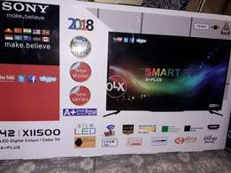 Sony smart led 42 inches dubble glass 2018