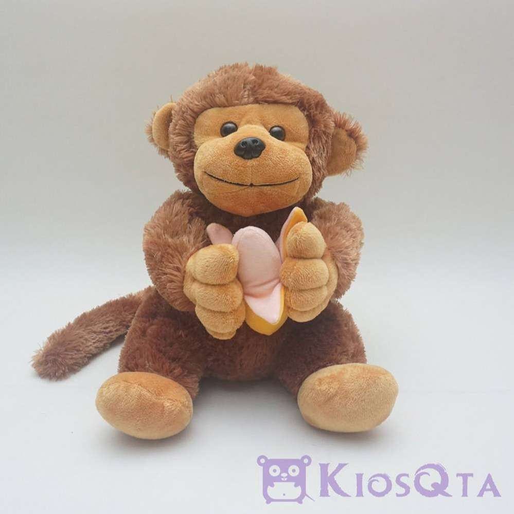 Gambar Monyet Bawa Pisang Boneka Monyet Buntut Panjang Bawa Pisang Coklat Medium Jan