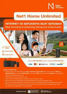 modem router wifi Net1 INDONESIA Home Unlimited