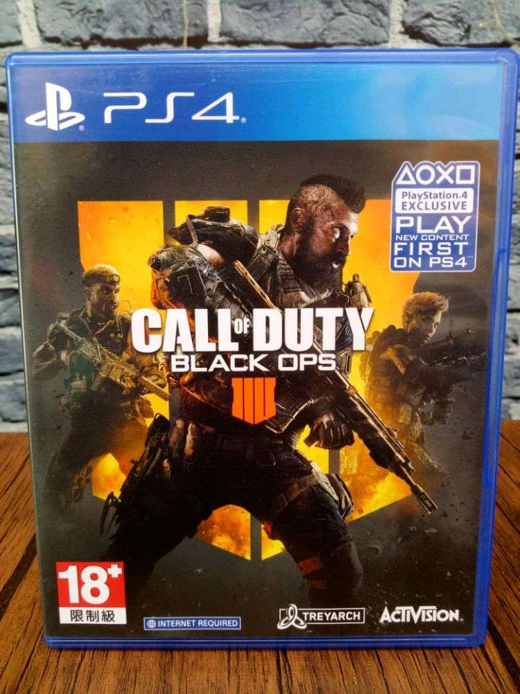 Bd Ps4 Call Of Duty Black Ops 4 Game Cd Kaset Bluray Cod Bo Iv Games Console 540038203