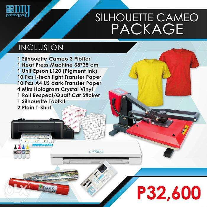 Cameo 3 Cutter Epson L120 Printer Heat Press Tshirt