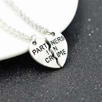 PARTNERS IN CRIME Necklace Friendship Gift