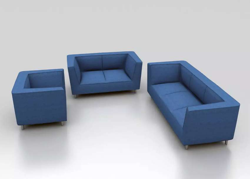sofa set blue 321 iid