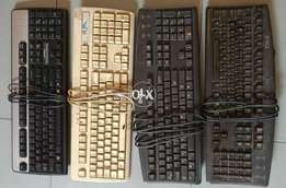 Keyboards, power supply, external cd writer, dvd rom for sale