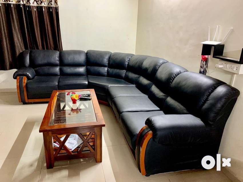 Magnificent L Shaped Leather Sofa 8 Seater Black Sofa Dining Ocoug Best Dining Table And Chair Ideas Images Ocougorg
