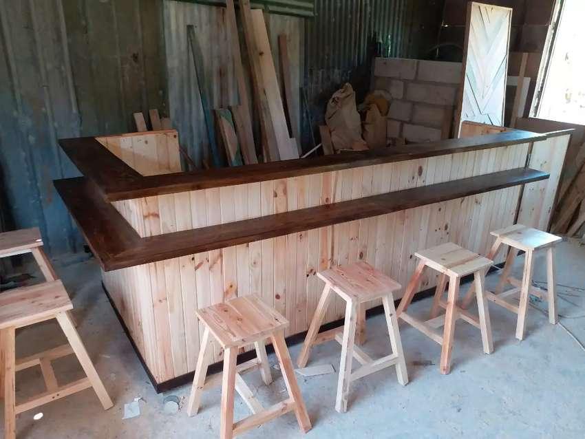 Frontdesk Mini Bar Meja Bar Mini Cafe Kayu Pinus Mebel 805302550
