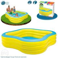 "57495 intex (size:90""/90""/22"") beach wave swim center family pool."