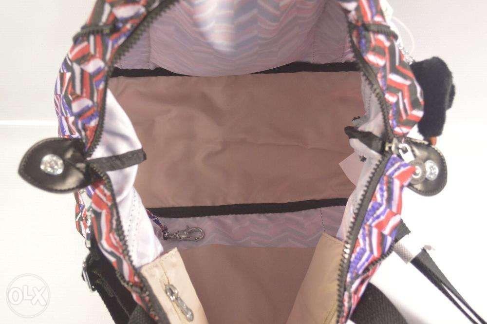 e5a7289a6d ... ORIGINAL Kipling Art U Print Dashing Stripe Convertible Tote Bag ...
