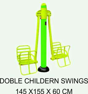 WOW Double Children Swings Mainan Anak Outdoor