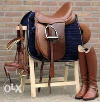 Horse Saddle and Boots