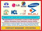 Company required staff for Officer and Adminstration staff .-*