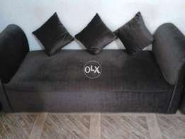 Couch with 2 soft stool for sale