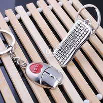 Keyboard Mouse 1Pair Couple Keychain Key