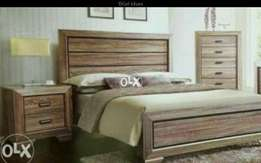 Wooden matt simple bed with sides