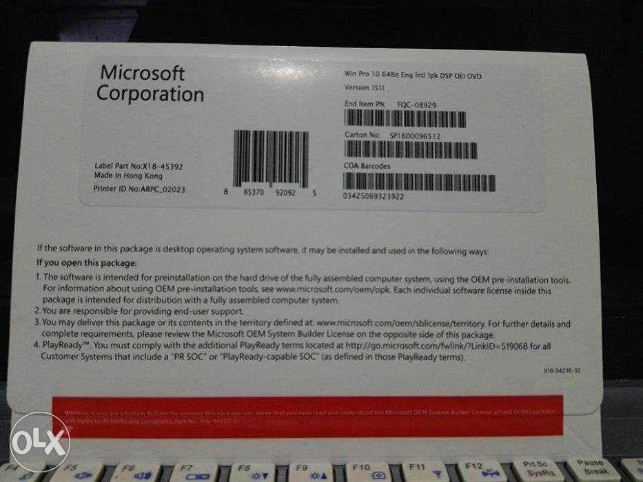 windows 10 pro software license