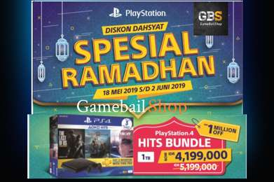 PROMO RAMADHAN - PS4 Slim 1TB Bundle Hits 3 Game
