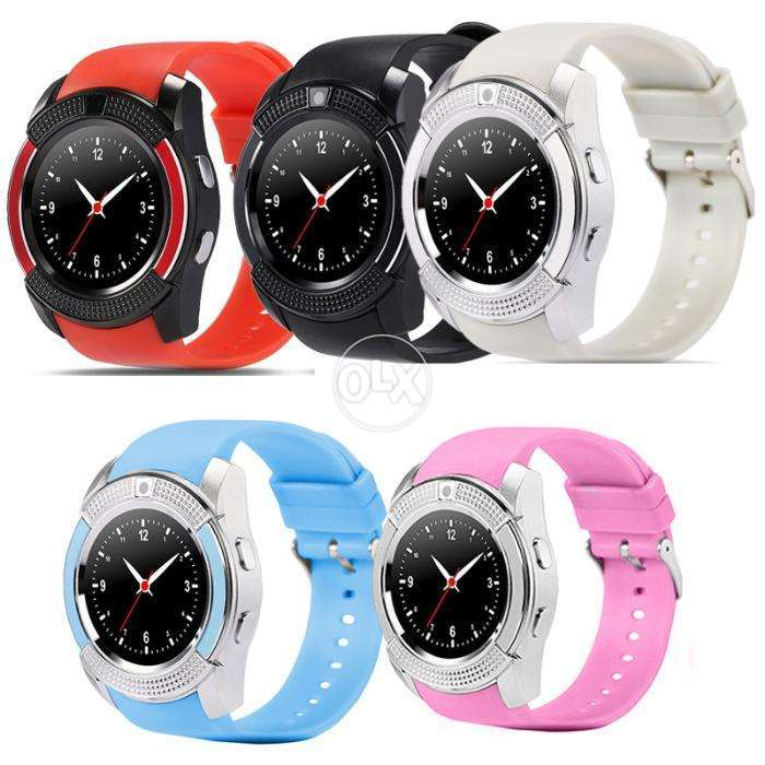 SMART WATCH V8 - Pink,Green,Blue,White and golden Colour