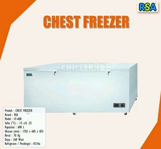 New Kulkas Super Chest Freezer RSA (kapasitas 600 liter) #ModelBaruu