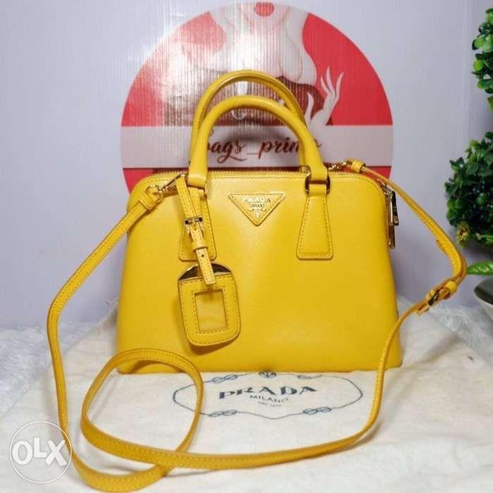 9d8e6b635d9 Prada Mini Saffiano Promenade Yellow two way Bag in Quezon City ...