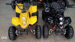 Dark shine black Atv quad bike