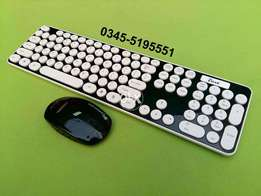 Imported 2 in 1 Multimedia Bluetooth Wireless Keyboard Wireless Mouse