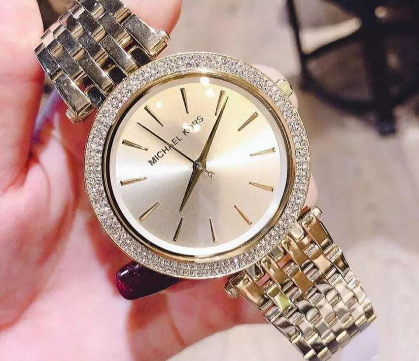 jam tangan michael kors women only white gold full set - Jam ...
