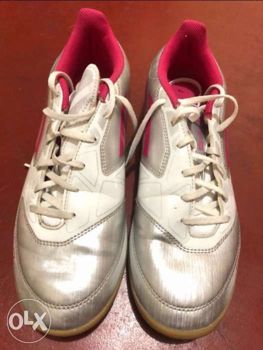 c411124cf5dd Adidas Women's F5 Silver Pink Indoor Soccer Lifestyle Shoes in Pasay ...