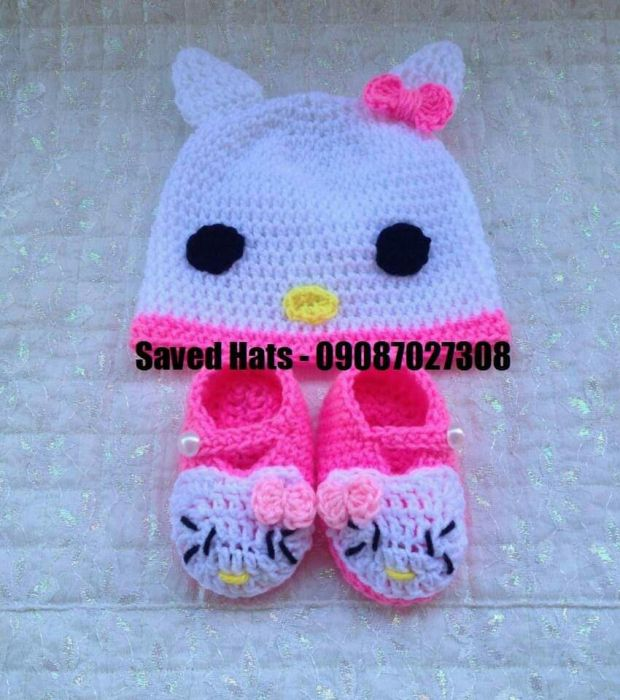 Hello Kitty Hat Crochet In Compostela Cebu Olxph