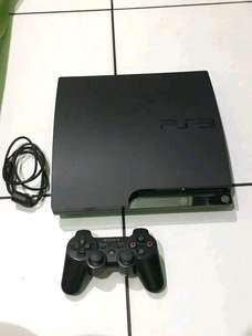 Jual ps3 slim udh hardisk 250gb isi 20 game segel void mesin masih new